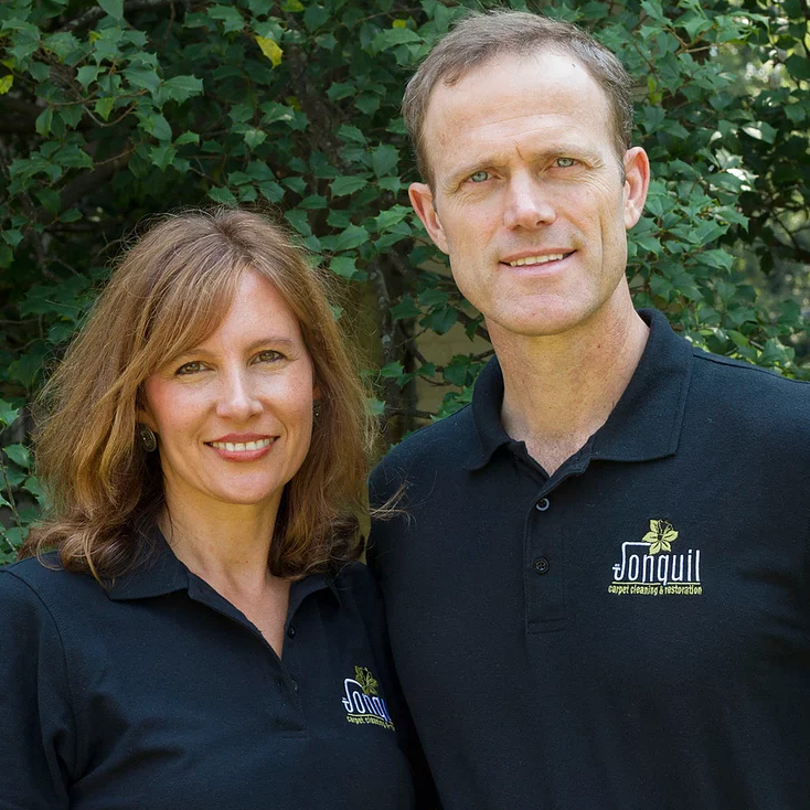 Photo of Mitchell & Cheri McLemore, owners of Jonquil Rug Cleaning Company.