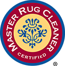 Logo for a certified Master Rug Cleaner.